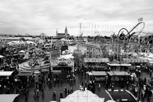 I didn't know that Oktoberfest was going to seem like a very large state fair (with a lot more drinking!).  I loved the mixture of modern fair and ancient church.